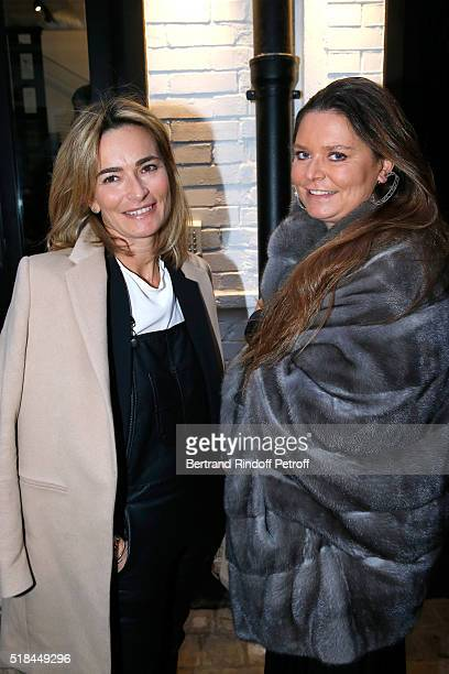Fabienne Bazire and Karin RudnickiSchlumberger attend the 'Guy Bourdin Portraits' Exhibition Opening and Cocktail at Studio des Acacias on March 31...