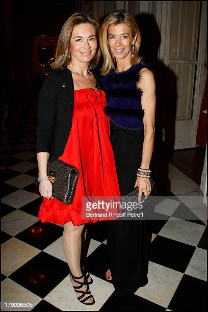 Fabienne Bazire and Valerie Hortefeux at The Traditional Christmas Dinner Held At The British Embassy In Paris