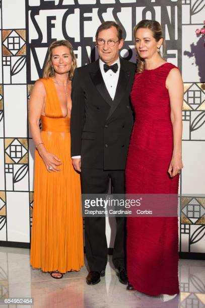 Fabienne Bazire Nicolas Bazire and Guilaine Chenu attend the Rose Ball 2017 To Benefit The Princess Grace Foundation at Sporting MonteCarlo on March...