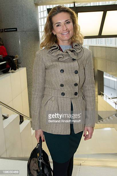 Fabienne Bazire poses before the Don Quichotte Ballet Hosted By 'Reve d'Enfants' Association and AROP at Opera Bastille on December 9 2012 in Paris...