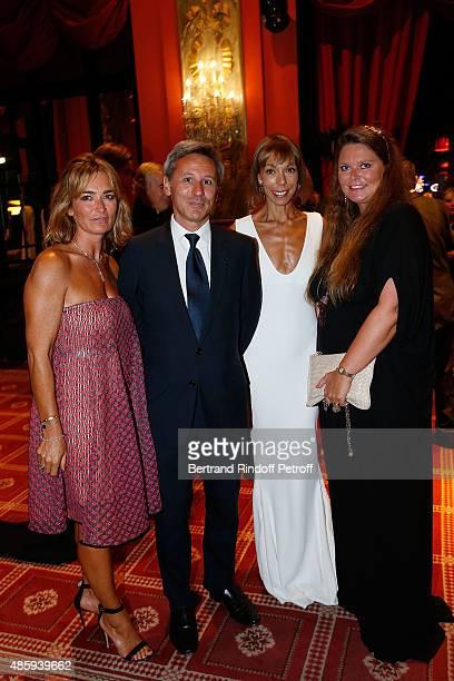 Fabienne Bazire President of Monnaie de Paris Christophe Beaux Matilde Favier Meyer and Karin Rudnicki Schlumberger attend the Grand Bal de Deauville...