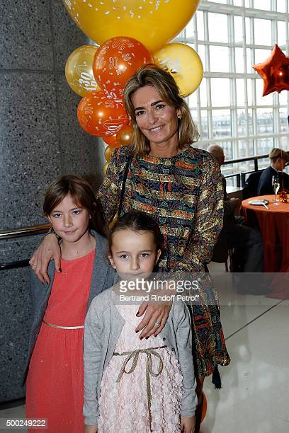 Fabienne Bazire Prune Achcar and Marie Bazire attend the 'Reves D'Enfant' Charity Gala at Opera Bastille on December 6 2015 in Paris France
