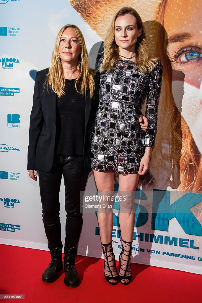 Fabienne Berthaud (L) and Diane Kruger attend the German premiere of the film 'Sky - Der Himmel in mir' at Zoo Palast on May 26, 2016 in Berlin, Germany.