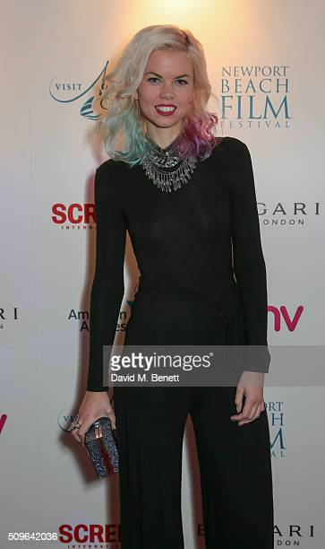 Fabienne Hebrard attends the Screen International x Newport Beach Film Festival photocall at the Bulgari Hotel on February 11 2016 in London England