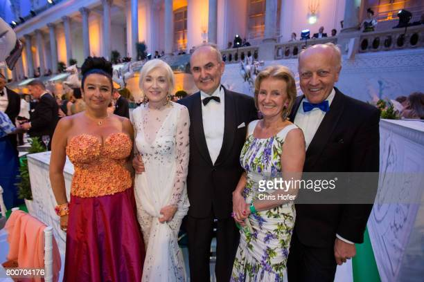 Fabienne Hoermanseder Ernie Marihart Hans Marihart Elisabeth Guertler and Wilhelm Hoermanseder during the Fete Imperiale 2017 on June 23 2017 in...