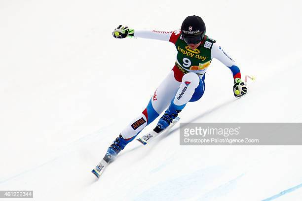 Fabienne Suter of Switzerland competes during the Audi FIS Alpine Ski World Cup Women's Downhill Training on January 09 2015 in Bad Kleinkirchheim...