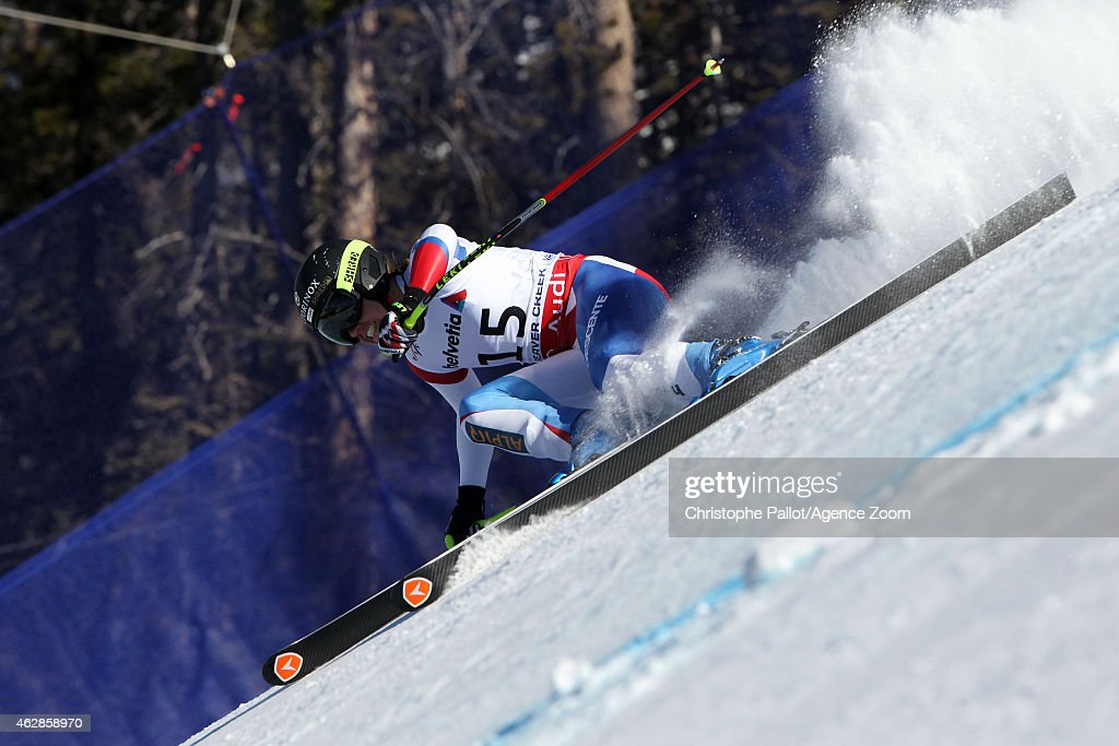 <a gi-track='captionPersonalityLinkClicked' href=/galleries/search?phrase=Fabienne+Suter&family=editorial&specificpeople=4140509 ng-click='$event.stopPropagation()'>Fabienne Suter</a> of Switzerland competes during the FIS Alpine World Ski Championships Women's Downhill on February 06, 2015 in Beaver Creek, Colorado.