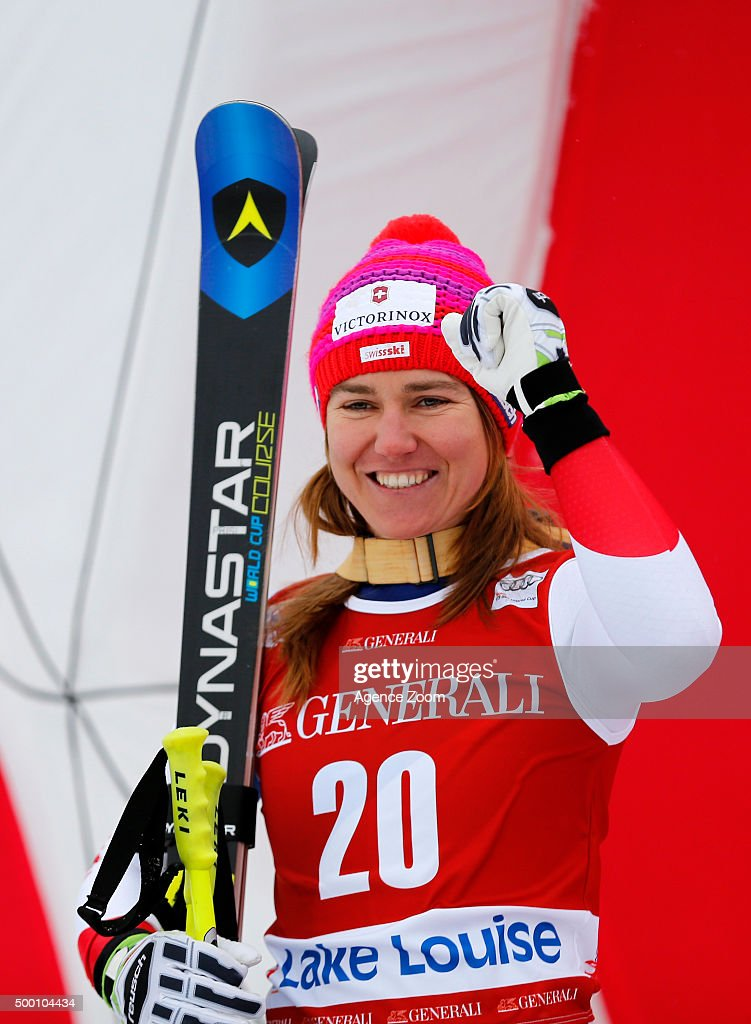 <a gi-track='captionPersonalityLinkClicked' href=/galleries/search?phrase=Fabienne+Suter&family=editorial&specificpeople=4140509 ng-click='$event.stopPropagation()'>Fabienne Suter</a> of Switzerland takes 2nd place during the Audi FIS Alpine Ski World Cup Women's Downhill on December 05, 2015 in Lake Louise, Canada.