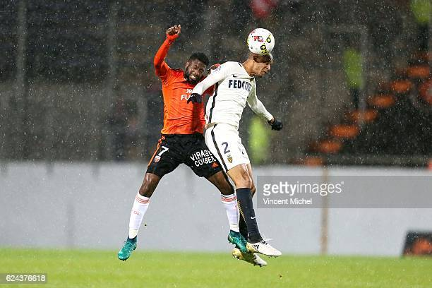 Fabinho Fabio Henrique Tavares of Monaco and Arnold Mvuemba of Lorient during the Ligue 1 match between Fc Lorient and As Monaco at Stade du Moustoir...
