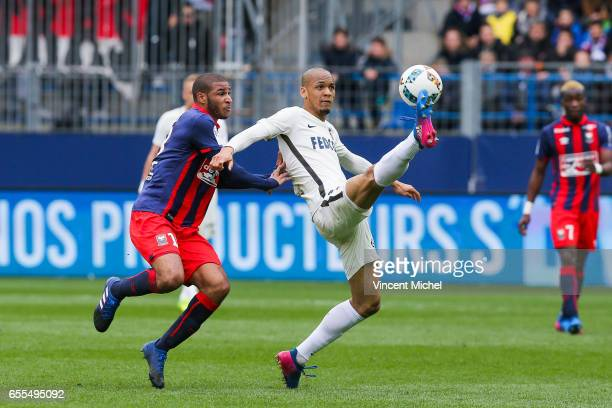 Fabinho of Monaco during the French Ligue 1 match between Caen and Monaco at Stade Michel D'Ornano on March 18 2017 in Caen France