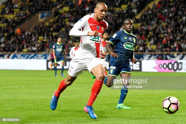 Fabinho of Monaco during the French National Cup Quarter Final match between As Monaco and Lille OSC at Stade Louis II on April 4 2017 in Monaco...