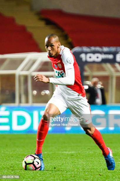 Fabinho of Monaco during the French National Cup Quarter Final match between Monaco and Lille at Stade Louis II on April 4 2017 in Monaco Monaco
