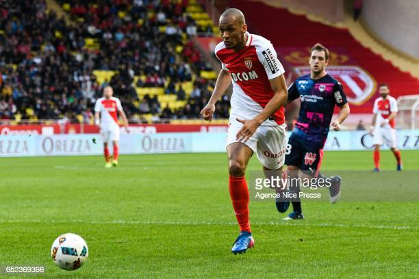Fabinho of Monaco during the Ligue 1 match between As Monaco and Girondins Bordeaux at Louis II Stadium on March 11 2017 in Monaco Monaco