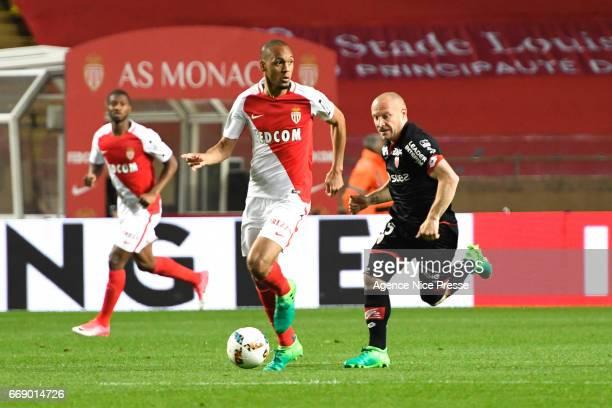 Fabinho of Monaco during the Ligue 1 match between As Monaco and Dijon FCO at Louis II Stadium on April 15 2017 in Monaco Monaco