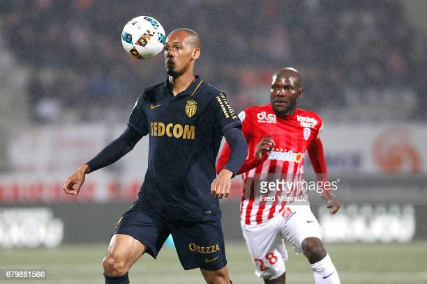 Fabinho of Monaco during the Ligue 1 match between As Nancy Lorraine and As Monaco at Stade Marcel Picot on May 6 2017 in Nancy France