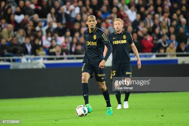 Fabinho of Monaco during the Ligue 1 match between Olympique Lyonnais and AS Monaco at Stade des Lumieres on April 23 2017 in DecinesCharpieu France