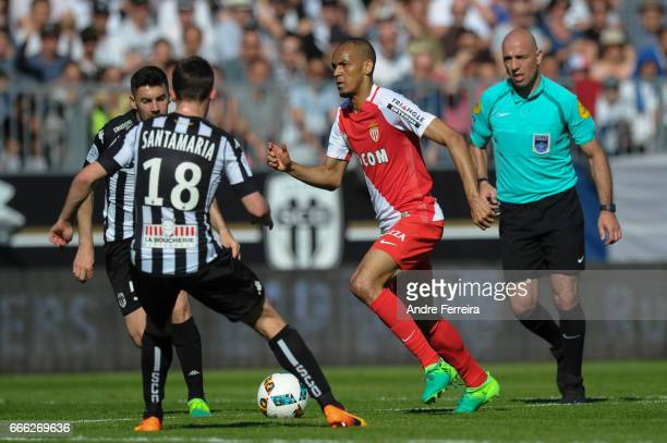 Fabinho of Monaco during the Ligue 1 match between SCO Angers and AS Monaco on April 8 2017 in Angers France