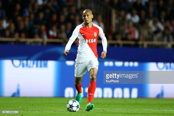 Fabinho of Monaco during the UEFA Champions League Semi Final first leg match between AS Monaco v Juventus at Stade Louis II on May 3 2017 in Monaco...