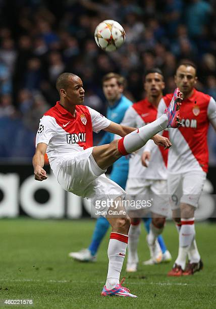 Fabinho of Monaco in action during the UEFA Champions League Group C match between AS Monaco FC and FC Zenit SaintPetersburg at Stade Louis II on...