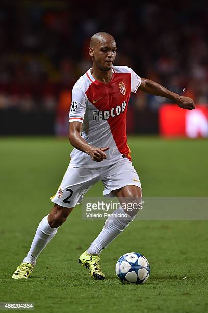 Fabinho of Monaco in action during the UEFA Champions League qualifying round play off second leg match between Monaco and Valencia on August 25 2015...