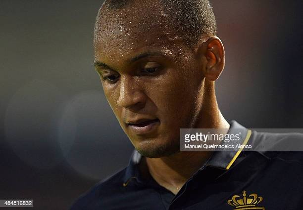 Fabinho of Monaco looks on during the UEFA Champions League Qualifying Round Play Off First Leg match between Valencia CF and AS Monaco at Mestalla...