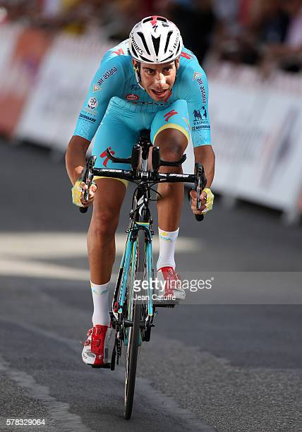 Fabio Aru of Italy and Astana Pro Team in action during stage 18 of the Tour de France 2016 a time trial of 17km between Sallanches and Megeve on...