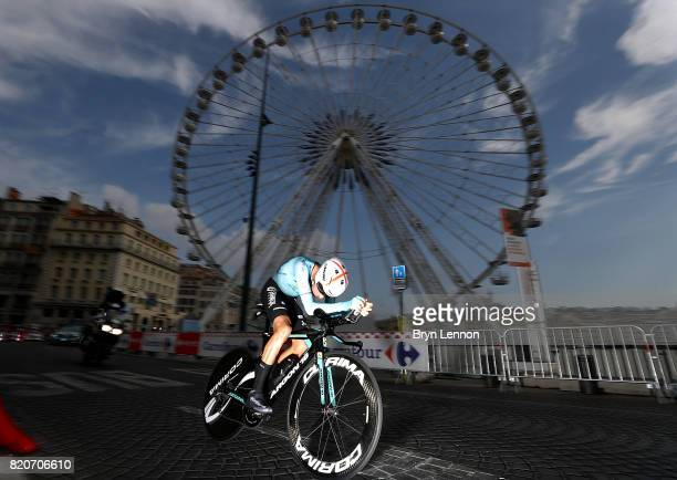 Fabio Aru of Italy and Astana Pro Team in action during stage twenty of Le Tour de France 2017 on July 22 2017 in Marseille France