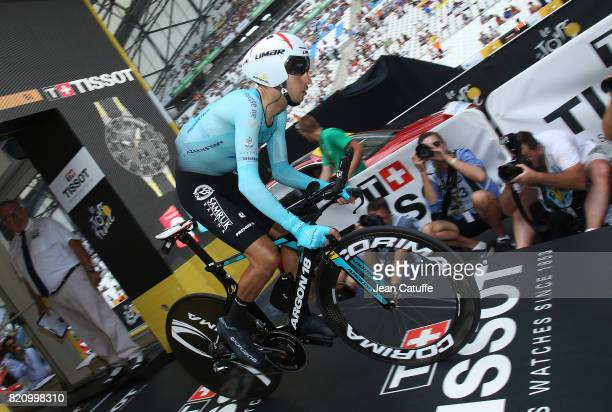 Fabio Aru of Italy and Team Astana during stage 20 of the Tour de France 2017 an individual time trial of 225km on July 22 2017 in Marseille France