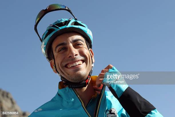 Fabio Aru of Italy and the Astana Pro Team finished second on stage five of the 8th Tour of Oman a 1525km stage from Sama'il to Jabal Al Akhdhar on...