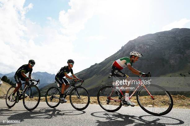Fabio Aru of Italy and the Astana Pro Team rides up the Col d'Izoard on stage eighteen of the 2017 Tour de France a 1795km stage from Briancon to...
