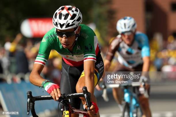 Fabio Aru of Italy riding for Astana Pro Team crosses the finish line during stage 17 of the 2017 Le Tour de France a 183km stage from La Mure to...