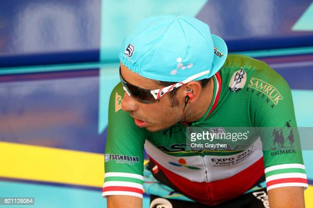 Fabio Aru of Italy riding for Astana Pro Team prepares to ride during the individual time trial stage 20 of the 2017 Le Tour de France a 225km stage...