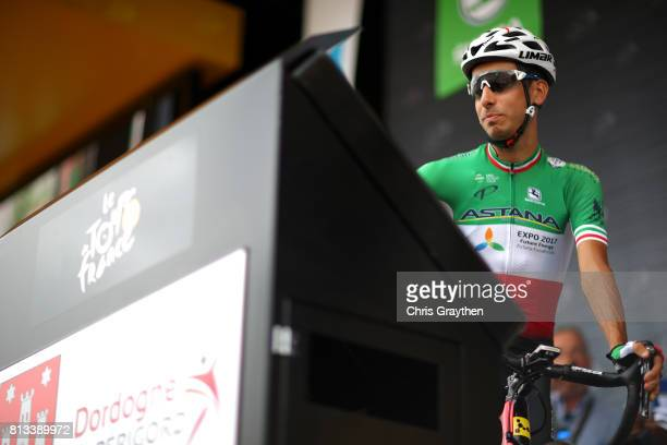Fabio Aru of Italy riding for Astana Pro Team prepares to start stage 11 of the 2017 Le Tour de France a 2035km stage from Eymet to Pau on July 12...