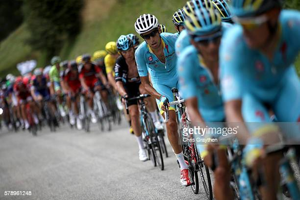 Fabio Aru of Italy riding for Astana Pro Team rides in the peloton during stage ninteen of the 2016 Le Tour de France a 146km stage from Albertville...