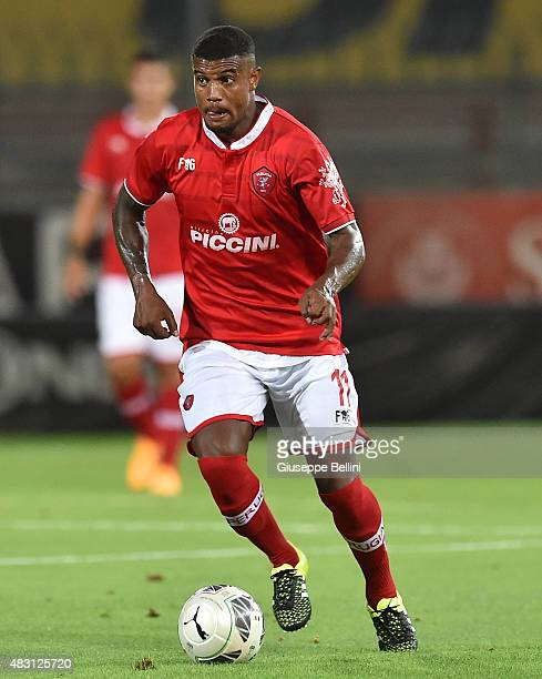 Fabio Ayres of Perugia in action during the preseason friendly match between AC Perugia and Carpi FC at Stadio Renato Curi on August 1 2015 in...
