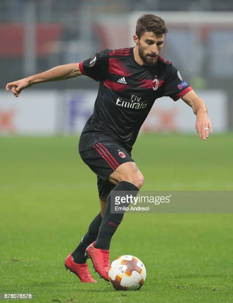 Fabio Borini of AC Milan in action during the UEFA Europa League group D match between AC Milan and Austria Wien at Stadio Giuseppe Meazza on...