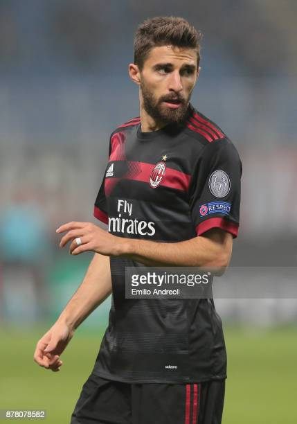 Fabio Borini of AC Milan looks on during the UEFA Europa League group D match between AC Milan and Austria Wien at Stadio Giuseppe Meazza on November...