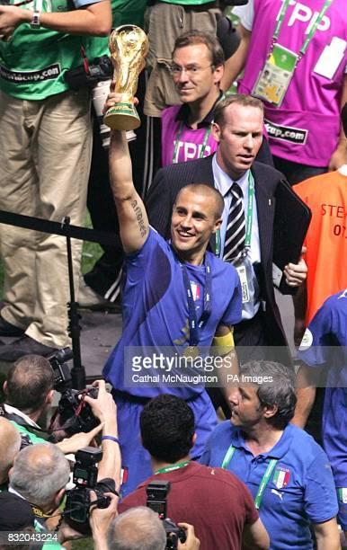 Fabio Cannavaro at the end of the match