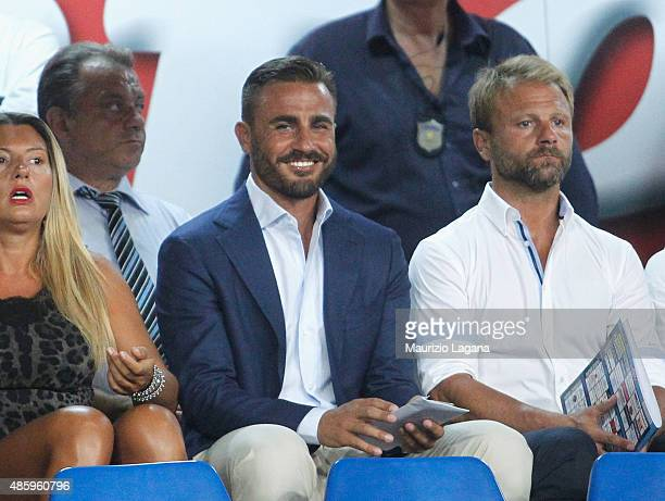 Fabio Cannavaro during the Serie A match between SSC Napoli and UC Sampdoria at Stadio San Paolo on August 30 2015 in Naples Italy