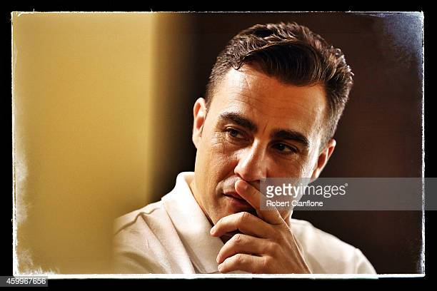 Fabio Cannavaro is seen prior to a press conference for the Global Legends Series at the Thailand Sports Authority on December 4 2014 in Bangkok...