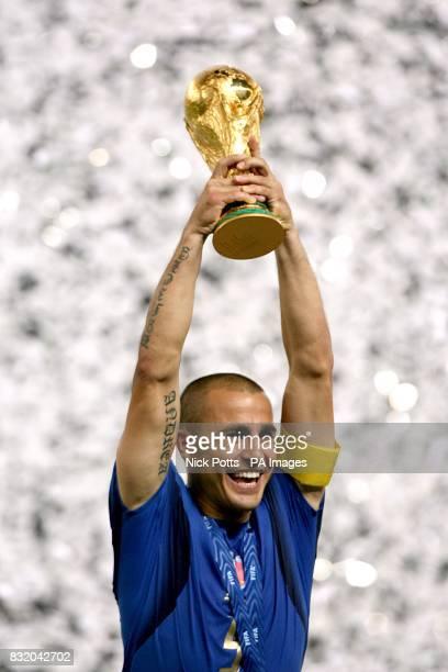 Fabio Cannavaro Italy captain lifts the trophy