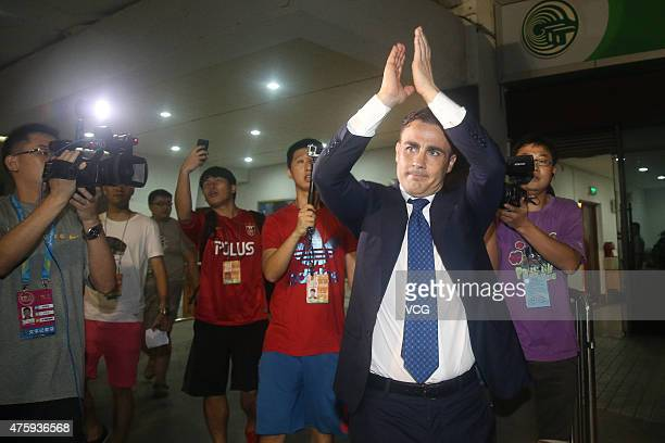 Fabio Cannavaro Italy's World Cup winning captain and chief coach of Guangzhou Evergrande Taobao Football Club says farewells with football fans...