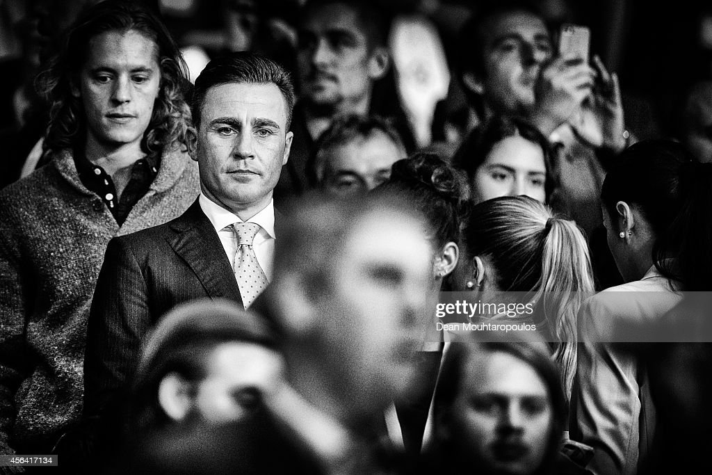 <a gi-track='captionPersonalityLinkClicked' href=/galleries/search?phrase=Fabio+Cannavaro&family=editorial&specificpeople=204335 ng-click='$event.stopPropagation()'>Fabio Cannavaro</a> looks on prior to the Group F UEFA Champions League match between Paris Saint-Germain v FC Barcelona held at Parc des Princes on September 30, 2014 in Paris, France.