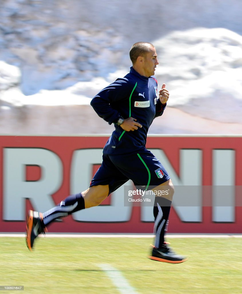 Fabio Cannavaro of Italy during the Italy Training Session on May 25, 2010 in Sestriere near Turin, Italy.