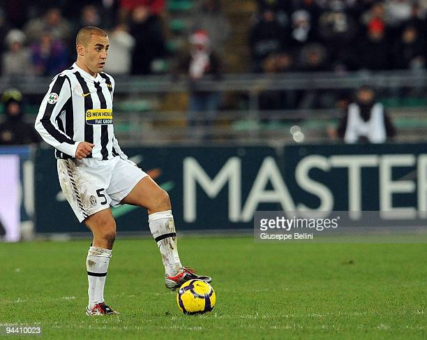 Fabio Cannavaro of Juventus FC in action during the Serie A match between AS Bari and Juventus FC at Stadio San Nicola on December 12 2009 in Bari...