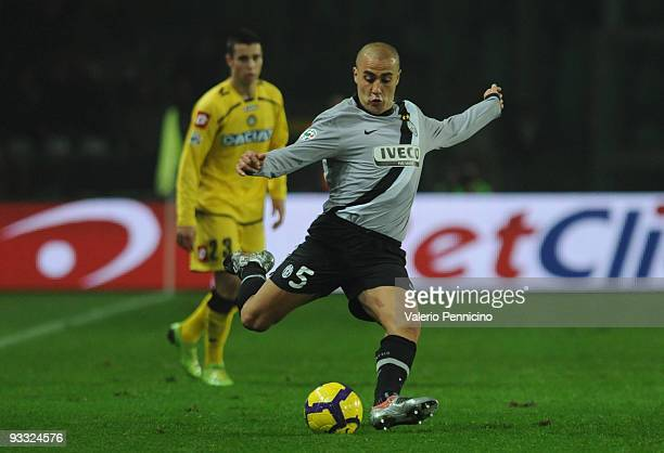 Fabio Cannavaro of Juventus FC in action during the Serie A match between Juventus and Udinese at Stadio Olimpico di Torino on November 22 2009 in...