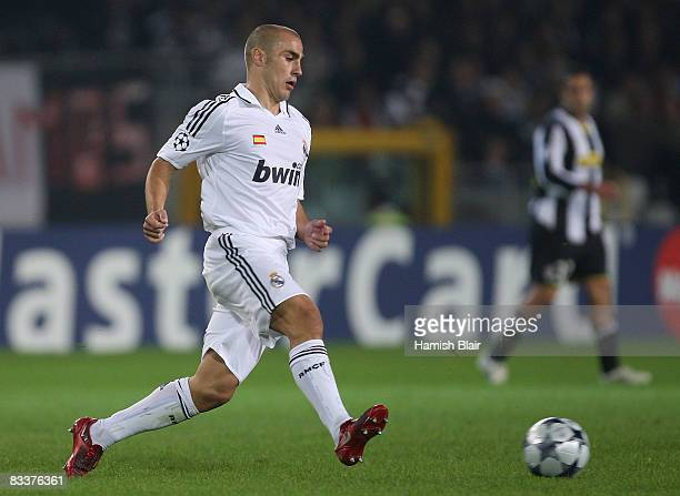 Fabio Cannavaro of Real Madrid in action during the UEFA Champions League Group H match between Juventus and Real Madrid at the Stadio Olimpico on...
