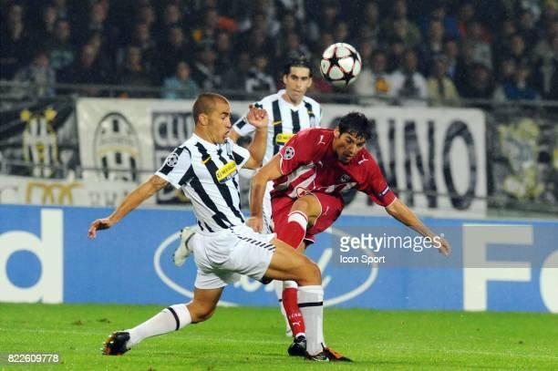 Fabio CANNAVARO / Yoann GOURCUFF Juventus / Bordeaux Championas League 2009/2010 Stadio Olimpico Turin