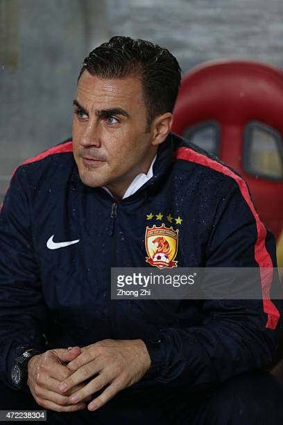 Fabio Cannavarocoach of Guangzhou Evergrande looks on during the AFC Asian Champions League match between Guangzhou Guangzhou Evergrande and Western...