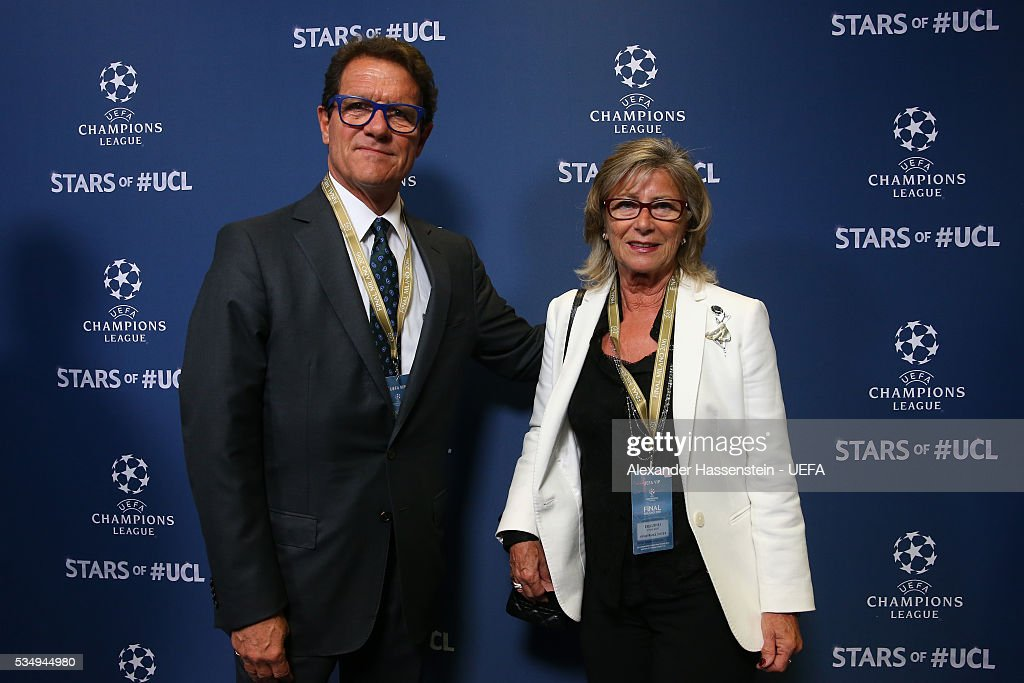<a gi-track='captionPersonalityLinkClicked' href=/galleries/search?phrase=Fabio+Capello&family=editorial&specificpeople=241290 ng-click='$event.stopPropagation()'>Fabio Capello</a> (L) attends the UEFA Champions League Final between Real Madrid and Club Atletico de Madrid at Stadio Giuseppe Meazza on May 28, 2016 in Milan, Italy.